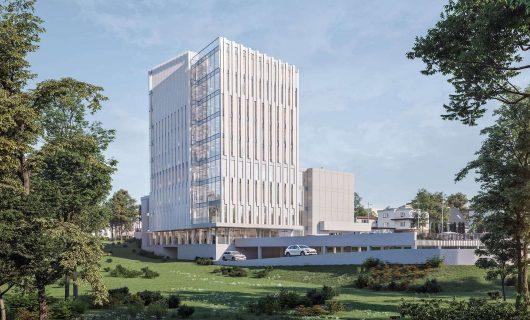 Siedziba Narodowego Funduszu Zdrowia – ul. Langiewicza